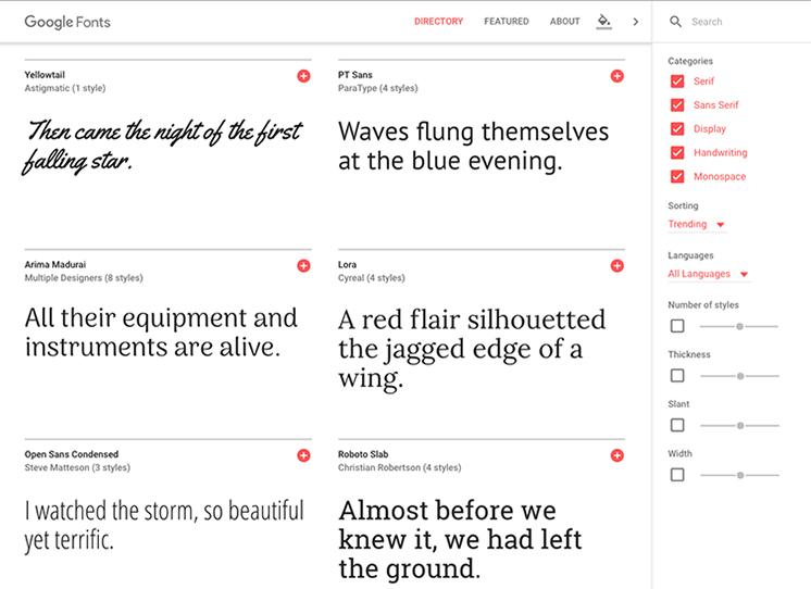 Google Font เรียน Graphic Design