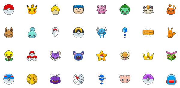 Icon,Icon ฟรี,ไอคอนฟรี,ไอคอน,เรียน Photoshop,เรียน Illustrator,เรียน Graphic Design,Pokemon,Pokemon Go
